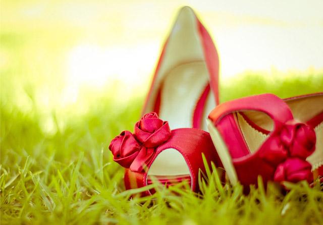 Letná svadba - topánky
