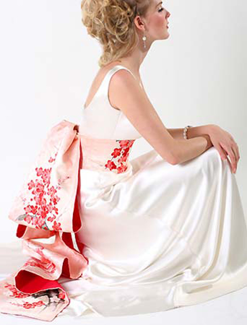 cherry blossom themed wedding dress