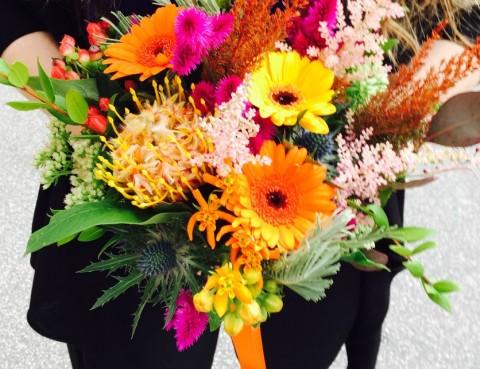 Svadobná jesenná kytica