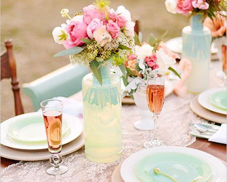 Ako nenásilne použiť mentolovú farbu vo svadobnej výzdobe  – Časť 1. 863cc655637