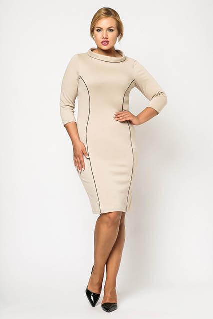 a86c512eb6cd Koktailové šaty pre moletky s kontrastnými švami