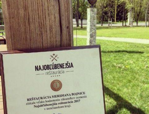 Meridiana Bojnice ocenenie naj reštaurácia