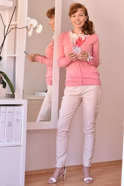 Orsay outfit pudrova ruzova