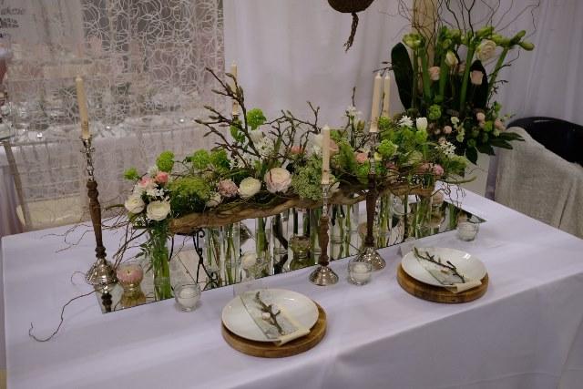 Svadobný veľtrh Incheba 2018 - svadobný aranžmán živé kvety