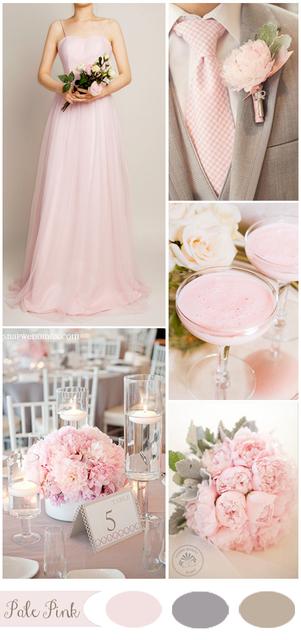 ruzova farebna paleta na svadbu