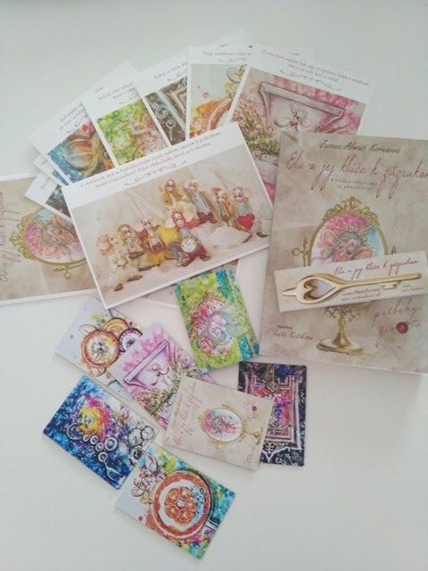 Ela a jej kľúč k zázrakom, Zuzana Almáši Koreňová, pohľadnice a magnetky