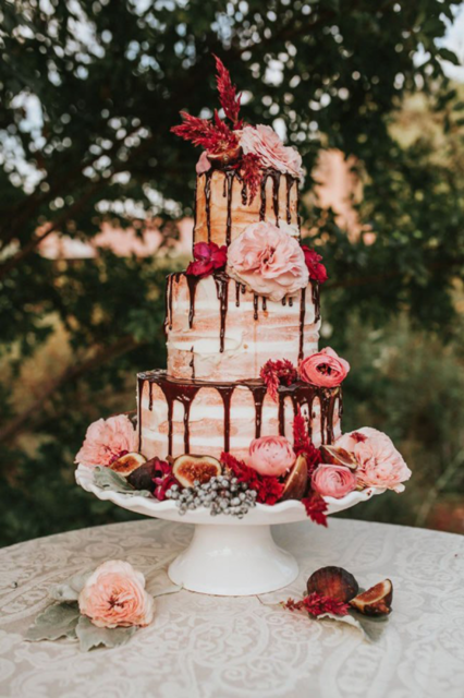 jesenna svadobna torta