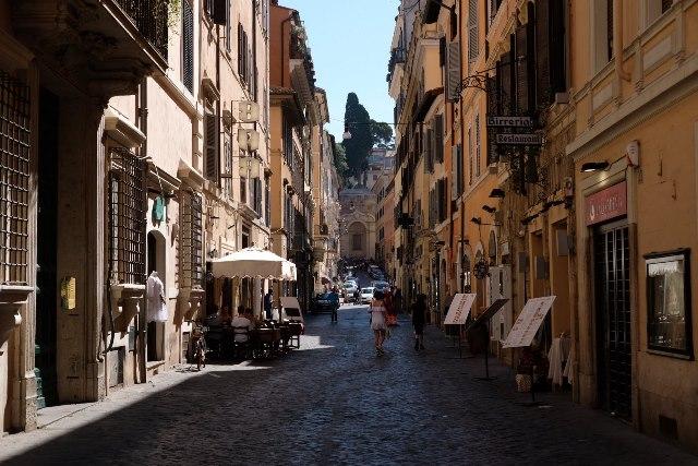 Rim, romanticke ulicky na fotenie