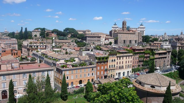 Rim zhora, vyhlad na mesto