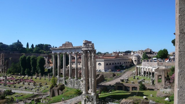 Svadba v Rime, Forum Romanum