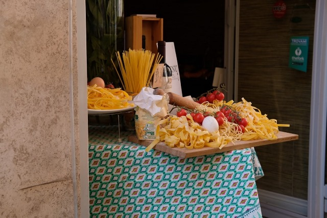 Svadba v Rime, restauracie a jedlo