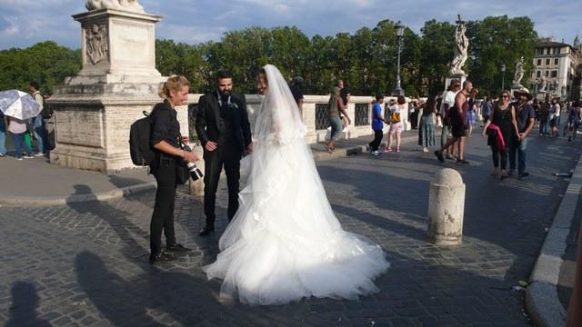 svadba v Rime fotenie na Anjelskom moste 1