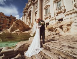 Fontana di Trevi, Rim, svadba v rime impuls