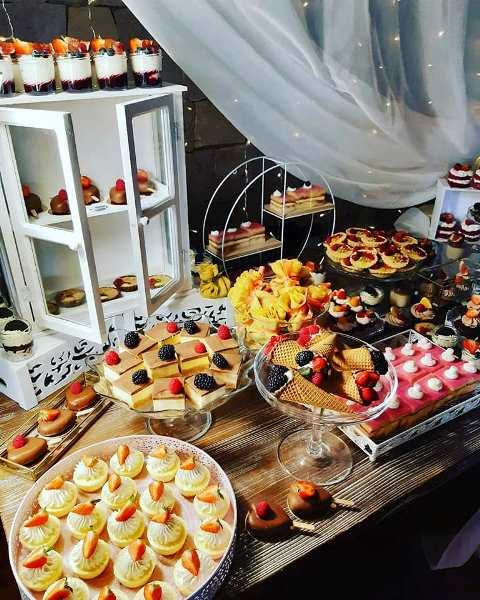 Candy bar na svadbu Lollipops