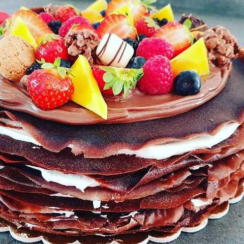 Palacinková torta Lollipops