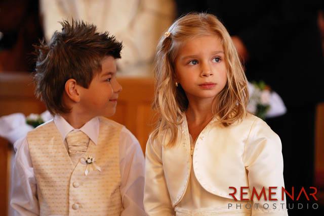Deti na svadbe - párik