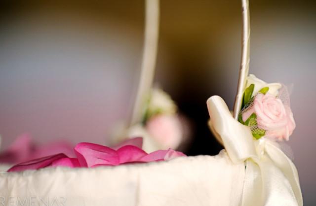 svadobný košík na lupienky