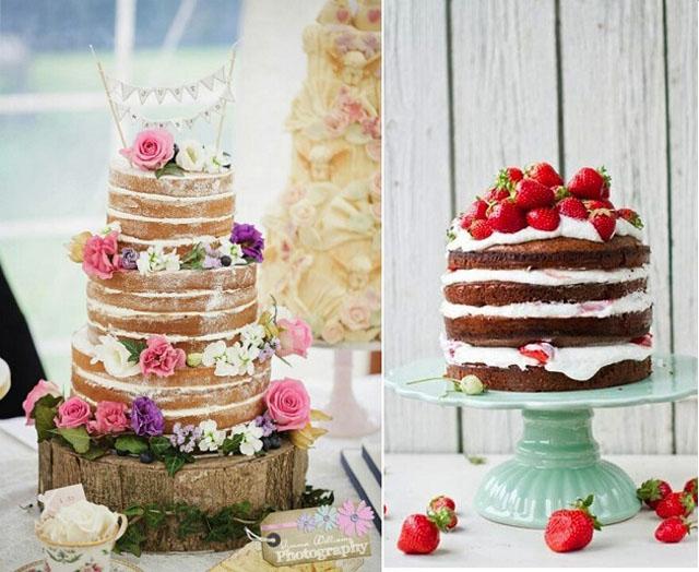 Naked wedding cake alebo nahá svadobná torta v prevedení